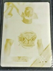 Seth Rollins 2016 Topps WWE Then Now Forever #142 Yellow Printing Plate 1/1