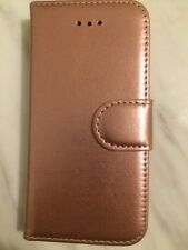 Rose Gold Premium Leather Wallet Book Case Cover For Apple iPhone 5S/5c/5se