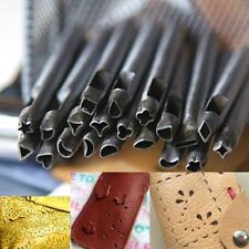 20Pcs 5MM DIY Leather Working Punches Making Tools Crafttool Leathercraft Stamps
