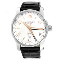 Montblanc Timewalker Voyager UTC Stainless Steel Automatic Mens Watch 109136