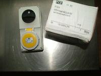 PCE 61132-4 Switch Interlocked Socket 16A 2P+E 110V IP67 61132