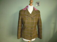 """Showing Selection ladies green wool tweed lead rein show country jacket 32"""""""