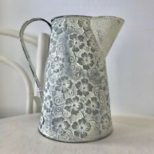 Floral Shabby Chic White Wash Jug Christmas Gift