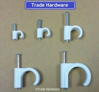 Plastic Pipe Clips Nail In 8mm, 10mm, 15mm, 22mm, 28mm, Various Quantity's