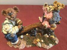 "Boyds Bears Bearstone ""Grandpa Bearykins with Molly & Jeff� - Premier Ed. - Nib"