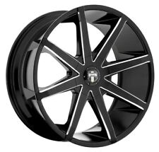 20x8.5 Dub S109 Push 5x108/5x114.3 ET35 Black & Milled Rims (Set of 4)