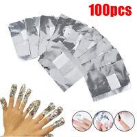 100 Pcs Aluminium Foil Nail Art Soak off Gel Polish Nail Manicure Wraps Remover