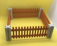 PLAYMOBIL FENCE FENCING ANIMAL ENCLOSURE 15cms Square