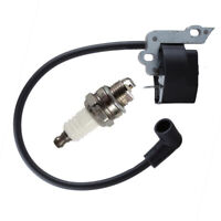 Chainsaw 2pcs Ignition Coil Spark Plug For Poulan 530 039 198 Power Equipment