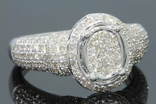 97 Quilates Mujer Acabado Oro Blanco Diamantes Boda Anillo