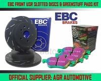 EBC FRONT USR DISCS GREENSTUFF PADS 240mm FOR FORD FIESTA 1.6 XR2I 1989-92