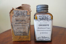OLD CREOSOTE TABLETS BOTTLE with LASBEL & BOX - H K MULFORD PHILA