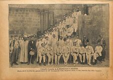 Escadre Marine Française de Méditerranée Jerusalem Amiral  1920 ILLUSTRATION
