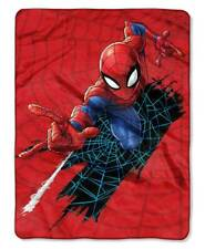Large DISNEY MARVEL SPIDERMAN SUPER HERO THROW BLANKET Sofa Nap Reading TV Gift