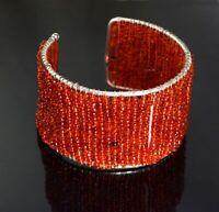 A Unique Boho Hippie Fashion Casual Wear Orange Color Bracelet Jewelry