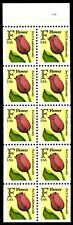 F Rate Red Tulip - Scott #2519 Booklet Pane of 10 Stamps MNH
