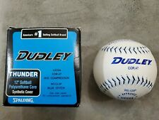 Rare White Softball Dudley Wl-12Sp Leather Thunder Blue Heat Cor47 Approved Usss