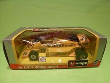 BBURAGO 06107 LOTUS HONDA TURBO -  F1 DELONGHI CAMEL 1:24 - EXCELLENT IN BOX