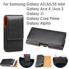 Galaxy J7 J5 J2 Pro Core Prime PU Leather Pouch Belt Clip Case Cover for Samsung