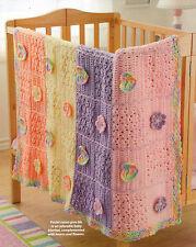 PRETTY Pastel Hearts & Flowers Baby Blanket Afghan/Crochet Pattern Instructions