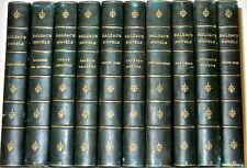 LEATHER Library Set;Honore de BALZAC WORKS!ENGLISH (40VOL's!) COMPLETE Rare gift