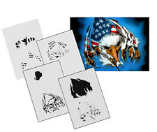 Step by Step Airbrush Stencil AS-131 M ~ Template ~ UMR-Design
