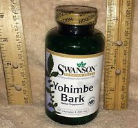 Yohimbe Bark, from Swanson >>>   100 capsules, 300 mg each