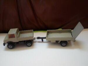 MATCHBOX SUPERKINGS UNIMOG 1978 PICK - UP K - 30 & FARM TRAILER K - 32