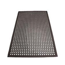 Winco RBM-35K, 3x5x0.5-Inch Anti-Fatigue Grease-Resistant Beveled Floor Mat, Bla