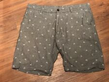 AXIST MENS GRAY COTTON WITH ANCHORS  4 POCKET  SIZE  38