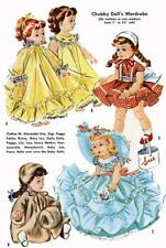 "Doll Clothes PATTERN 2084 for 7"" 8"" Ginny Wendy Muffie Bella Honeybunch Colgate"
