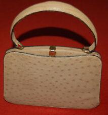 superbe sac à main ancien en cuir  modèle main et sous bras double anse, qualité