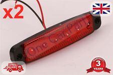 2x 6 LED Lámpara luz indicadora de posición laterales de camión 12v Rojo E Certificado De Alta Calidad