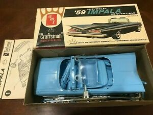 AMT Craftsman Series 1959 Impala Convertible Kit 4013-100 Unassembled & Complete