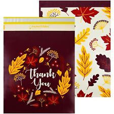 Autumn Thank You Printed Poly Mailers 145x19 Pack Of 50