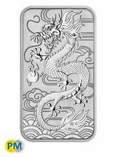 2018 Rectangle Dragon 1oz Silver Bullion Coin