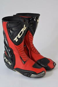 TCX Motorbike Road Race Boots Torsion Control System Black Red Size EUR 44 UK 11