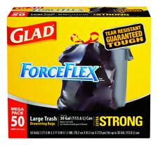 Glad ForceFlex 30 gal. Trash Bags Drawstring 50 pk