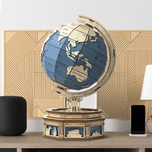 Robotime 3D DIY Model Kit Laser Cut Wooden Clockwork Puzzle Gift Globe UK Stock