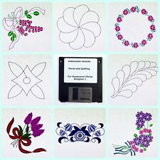 Floral and Quilting Embroidery Designs Disk for Husqvarna Viking Designer 1