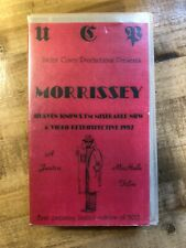 RARE LIMITED MORRISSEY HEAVEN KNOWS IM MISRABLE NOW VHS VIDEO RETROSPECTIVE TAPE