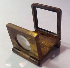 "VINTAGE SOLID FOLDING BRASS BRONZE MAGNIFYING GLASS LOUPE ""Farbianca"""