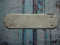 FP145 Reclaimed Salvaged Old Original Door Finger Plate (70 x 275mm)