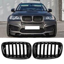 Avant capot Grille calandre BMW E70 E71 X5 X6 2007-2013 noir brillant