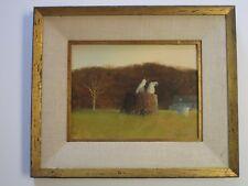 Steven O Scott Painting Pair 2 Siamese Cat Kitten Butterfly Landscape Vintage