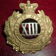 CAP BADGES-ORIGINAL VICTORIAN/QVC 13th HUSSARS NICE BADGE