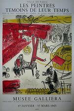 CHAGALL Marc Affiche Lithographie Mourlot 1964 Musée Galliera le cirque