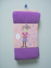 Toe Tally Soft Plush Lined Purple Polyester Spandex Tights Girls Size 7 - 10 New