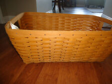 Longaberger Small Laundry Basket - Warm Brown Stain - Nwt