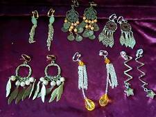 LUCKY DIP:  3 PAIRS OF GLAMOROUS CLIP-ON EARRINGS TV/CD